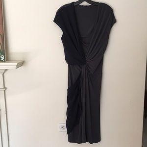 MAXMARA TWO TONED DRESS. Made in Italy